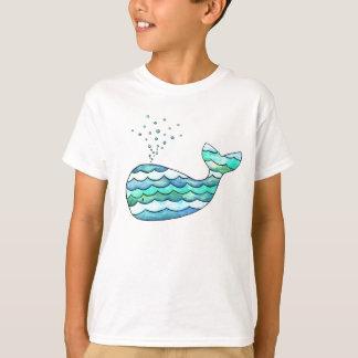 Camiseta Baleia ondulada