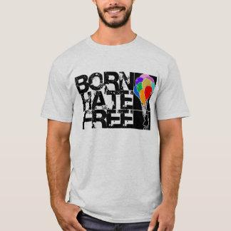 Camiseta balões do arco-íris. o ódio nascido livra. preto