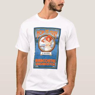 Camiseta Balsa da equitação da mulher - Anacortes