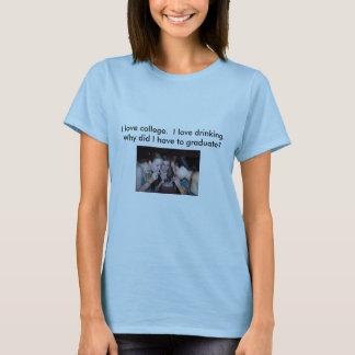 Camiseta bamboo7, eu amo o bebendo do amor de I.  Porque…