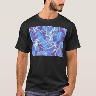 Camiseta Bambu no teste padrão geométrico azul