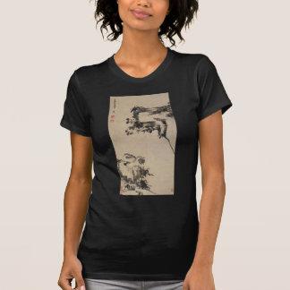 Camiseta Bambu, rocha, e patos de mandarino por Bada