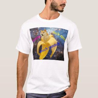 Camiseta banana   - doge - shibe - espaço - uau doge