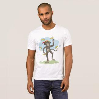 Camiseta Bananas de mnanipulação do macaco