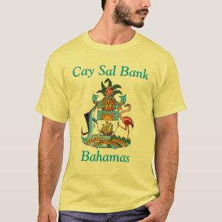 Camiseta Banco do Sal do Cay, Bahamas com brasão