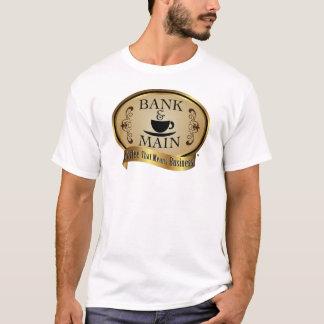 Camiseta Banco & t-shirt dos homens principais - branco