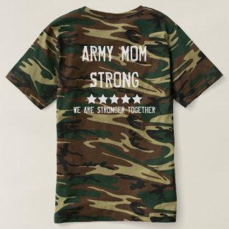 Camiseta Banda das mães - t-shirt forte de Camo da mamã do