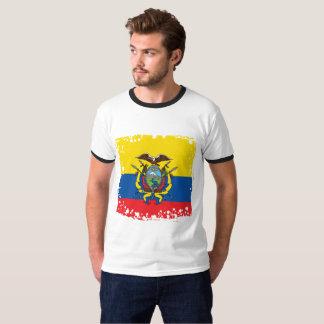 Camiseta Bandeira abstrata de Equador, república de cores