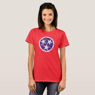 Camiseta Bandeira afligida do estado de Tennessee
