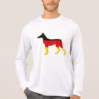 Camiseta Bandeira alemão - Pinscher de Dobermann