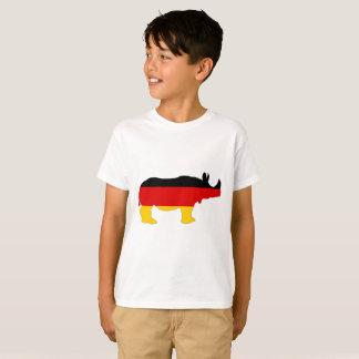 Camiseta Bandeira alemão - rinoceronte