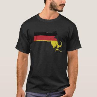 Camiseta Bandeira alemão sobre Massachusetts