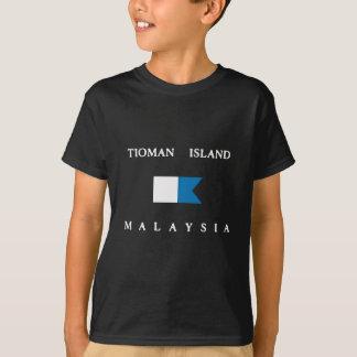 Camiseta Bandeira alfa do mergulho de Malaysia da ilha de