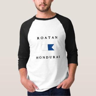 Camiseta Bandeira alfa do mergulho de Roatan Honduras