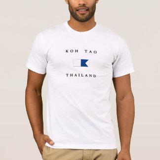 Camiseta Bandeira alfa do mergulho de Tao Tailândia do Koh