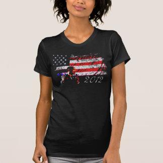 Camiseta Bandeira americana 2012 do presidente Barack Obama