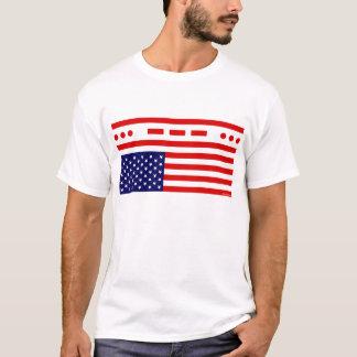 Camiseta Bandeira americana da aflição do SOS