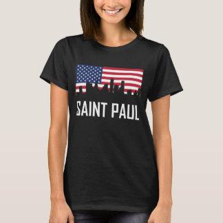Camiseta Bandeira americana da skyline de Saint Paul