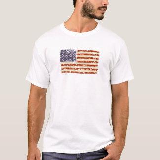 Camiseta Bandeira americana desvanecida da glória