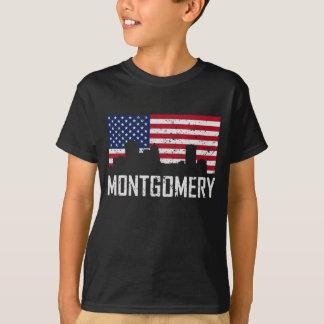 Camiseta Bandeira americana Distresse da skyline de