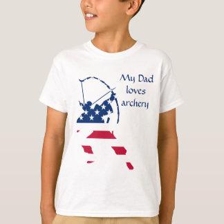 Camiseta Bandeira americana do arqueiro do tiro ao arco dos