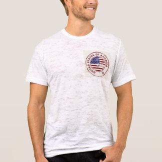 Camiseta Bandeira americana do Grunge com carimbo de