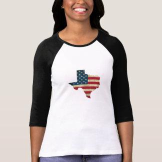 Camiseta Bandeira americana do mapa de Texas