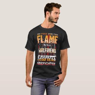 Camiseta Bandeira americana do sapador-bombeiro do namorada