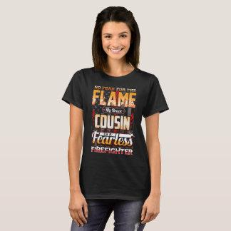 Camiseta Bandeira americana do sapador-bombeiro do primo