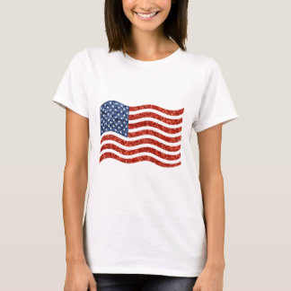 Camiseta bandeira americana do sequin