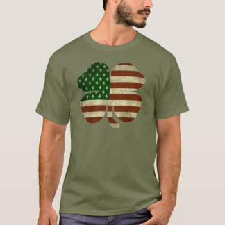Camiseta Bandeira americana irlandesa do patriota do trevo