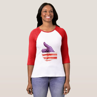 Camiseta Bandeira americana, polegares acima. - Patriótico