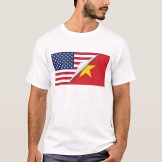 Camiseta Bandeira americana vietnamiana