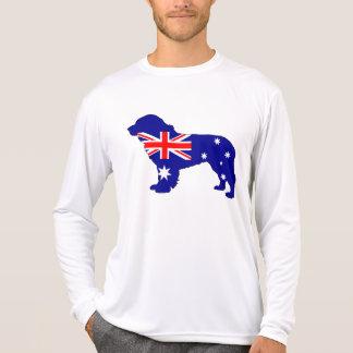 Camiseta Bandeira australiana - cão de Terra Nova