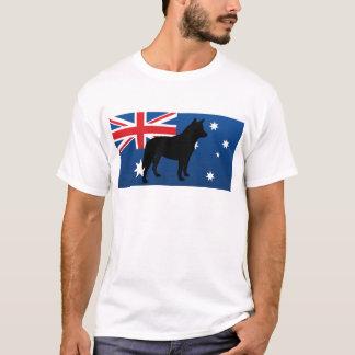 Camiseta bandeira australiana de Austrália do silo do cão