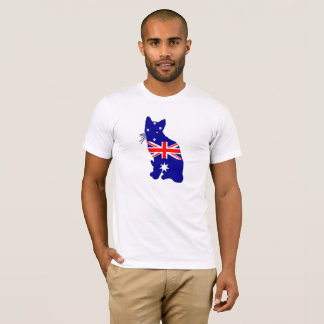 Camiseta Bandeira australiana - gato