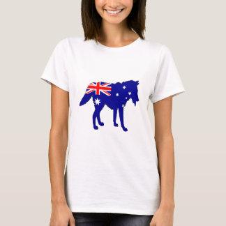 Camiseta Bandeira australiana - lobo