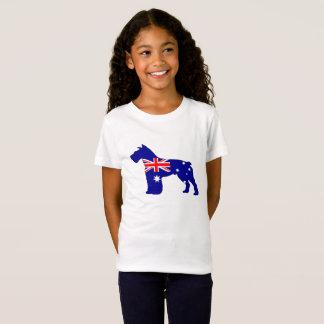 Camiseta Bandeira australiana - Schnauzer