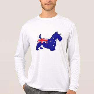 Camiseta Bandeira australiana - Scottish Terrier