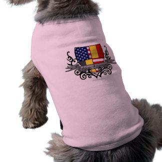Camiseta Bandeira Belga-Americana do protetor