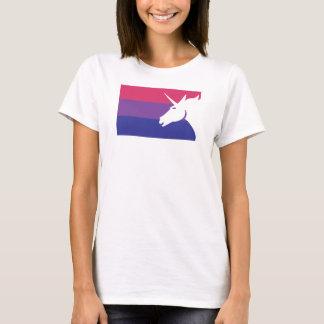 Camiseta Bandeira bissexual do unicórnio