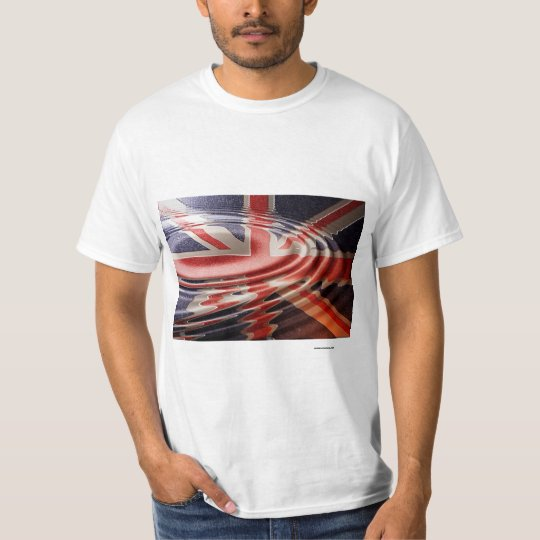 Camiseta Bandeira Britânica refletida