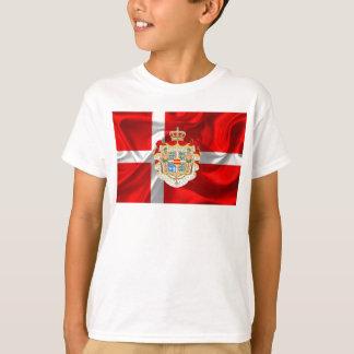 Camiseta Bandeira-Casaco dinamarquês dos braços