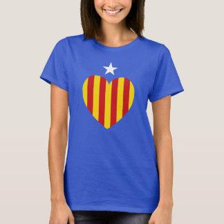 Camiseta Bandeira Catalan do coração