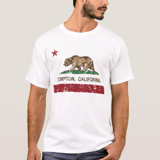 Camiseta bandeira Compton de Califórnia afligido