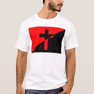 Camiseta Bandeira cristã da cristandade da anarquia do