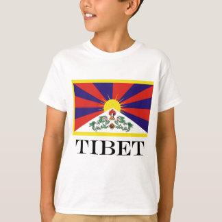 Camiseta Bandeira da bandeira do leão de Tibet ou de neve