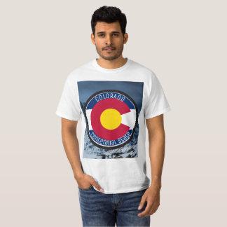 Camiseta Bandeira da circular de Colorado