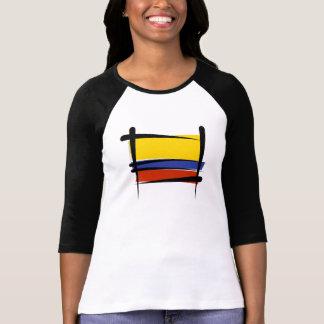 Camiseta Bandeira da escova de Colômbia