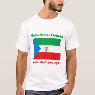 Camiseta Bandeira da Guiné Equatorial + Mapa + T-shirt do